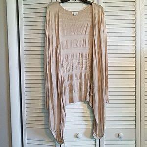 New York & Company Light-weight Tan Sweater Size L